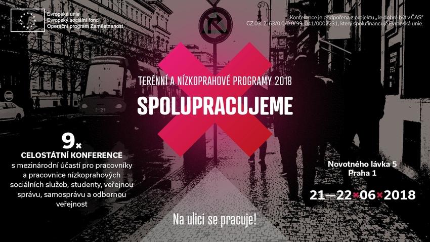 Konference Terénní a nízkoprahové programy 2018 - SPOLUPRACUJEME